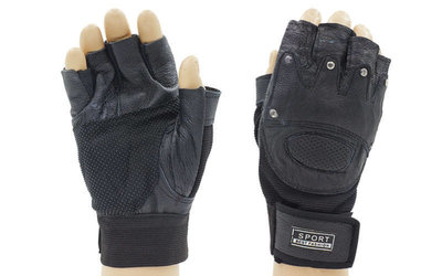 Перчатки спортивные многоцелевые перчатки атлетические 4381 кожа полиэстер, размер L/XL