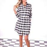 Платье рубашка 42-46