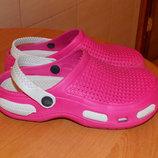 Фирменные кроксы для девочки, размер С 35 21 см