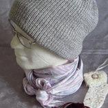 стильная серая новая шапка