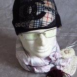 шапка хлопковая в буковках с камушками сваровски