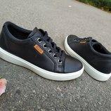 Новые кожаные кроссовки сникерсы Ecco S7 Teen. разм.30-34