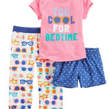 Пижама тройка для девочки Carters крутые очки