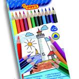 JOVI Испания карандаши цветные трехгранные 12 цветов самые лучшие
