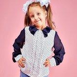 Школьная блузка для девочки. Размер 146