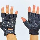 Перчатки спортивные многоцелевые с заклепками перчатки атлетические 01049 кожа полиэстер, разме