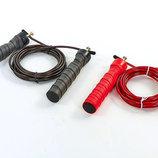 Скакалка скоростная кроссфит с подшипником и стальным тросом 5347 2 цвета, длина 3м