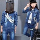 Куртка и джинсы в комплекте наличие для девочек