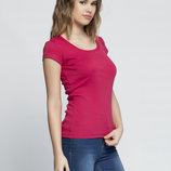 в наличии женская футболка LC Waikiki ярко-малиновый цвет
