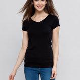 в наличии женская футболка LC Waikiki насыщенно черного цвета