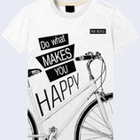 Стильная футболка Do what makes you happy