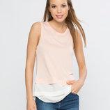 в наличии фирменная женская футболка LC Waikiki нежно розово-белого цвета