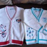 Нарядные хлопковые кофточки с вышивкой на мальчика и девочку