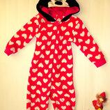 Теплая пижама человечек Disney Минни Маус 2-3г