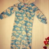 Теплая пижама человечек 3-4г