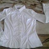 Белая блуза. Фирмы DISHE. Размер 44 - 46.