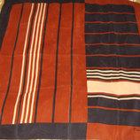 платок Pierre Cardin оригинал шелк принт Шоколад Италия 75Х77 идеал