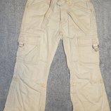 Бежевые летние брюки Pumpkin Patch. На девочку 3 года. Рост до 100 см.