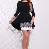Узор Черный Костюм Элизабет элегантный женский костюм черно-белого цвета скл2