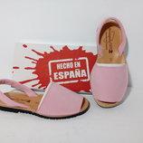 Цвет роза, нубук, летняя обувь, менорки, абаркасы, пляжная обувь. Испания