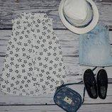Фирменная струящаяся маечка блузка блуза для модниц 7 - 8 лет 128 см звездочки