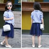 Летний комплект рубашка и юбка в наличии девочке