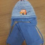 Наша любимая шапочка и шарфик 46-48 размер
