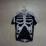 Футболка велосипедка р. 46-50, WOLF, скелет мужская, спереди молния, сзади карманы, лето