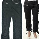 Черные джинсы брюки трансформер industries cargo 14 usa на 50-52 р регулируемая высота