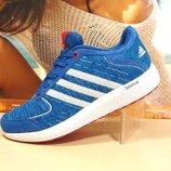 кроссовки женские adidas bounce синие 36р-41р