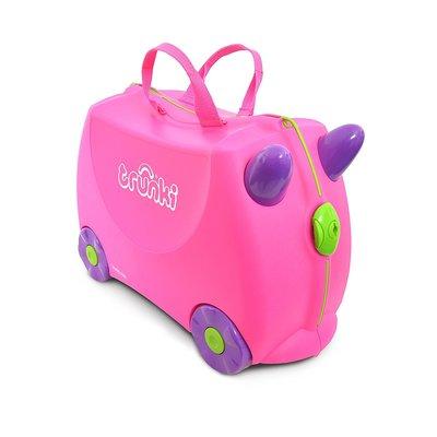 Trunki Детский чемодан на колесах розовый Англия чемодан-каталка The  Original Ride-On Trixie 97c53c3d8b2