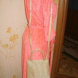 сумка-клатч золотистая