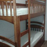 Двухъярусная кровать Карина с ящиками матрасы