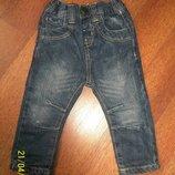 Модные джинсы на подкладке фирмы Rebel на 9-12 мес.