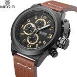Мужские военные наручные часы Megir Life M-2029 / Гарантия