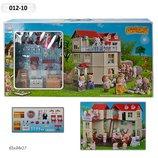 Домик Happy Family , флоксовые животные, в кор. 65 34 17 см, 012-01