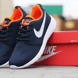 Кроссовки женские Nike Roshe Run Blue Orange