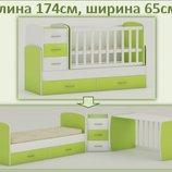 Детская кровать для новорожденных и подростков трансформер Maya