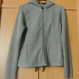 Флисовая куртка кофта с вязаными рукавами тсм