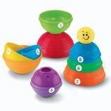 Fisher-Price Пирамидка из формочек Маленький-Большой Brilliant Basics Stack & Roll Cups