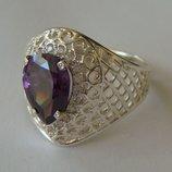 Кольцо 111180ЮМ, серебро 925 проба, кубический цирконий.