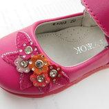 Детские кожаные розовые туфельки, босоножки
