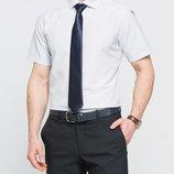 в наличии мужская рубашка LC Waikiki с коротким рукавом белого цвета в мелкую голубую клетку