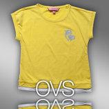 Модная футболка с принтом для девочки фирмы OVS 2-7 Лет
