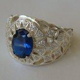 Кольцо 110350ЮМ, серебро 925 проба, кубический цирконий.