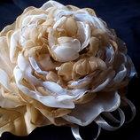 Набор брошь и цветок на руку, авторская ручная работа