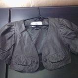 Новая кожаная куртка/болеро CULTURE Разм S M