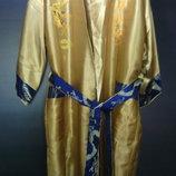Халат новый китайский двойной с вышивкой разм м-L