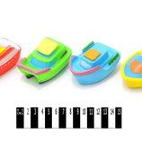Резиновые пищалки кораблики 4 штуки KQ-BB-51A игрушки в ванну