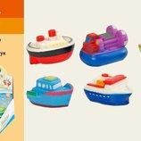 Пищалка-Брызгалка 6 шт кораблики, в боксе 1408B1 игрушки для ванной